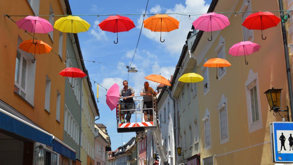 Lederergasse: Mit Schirm & Charme