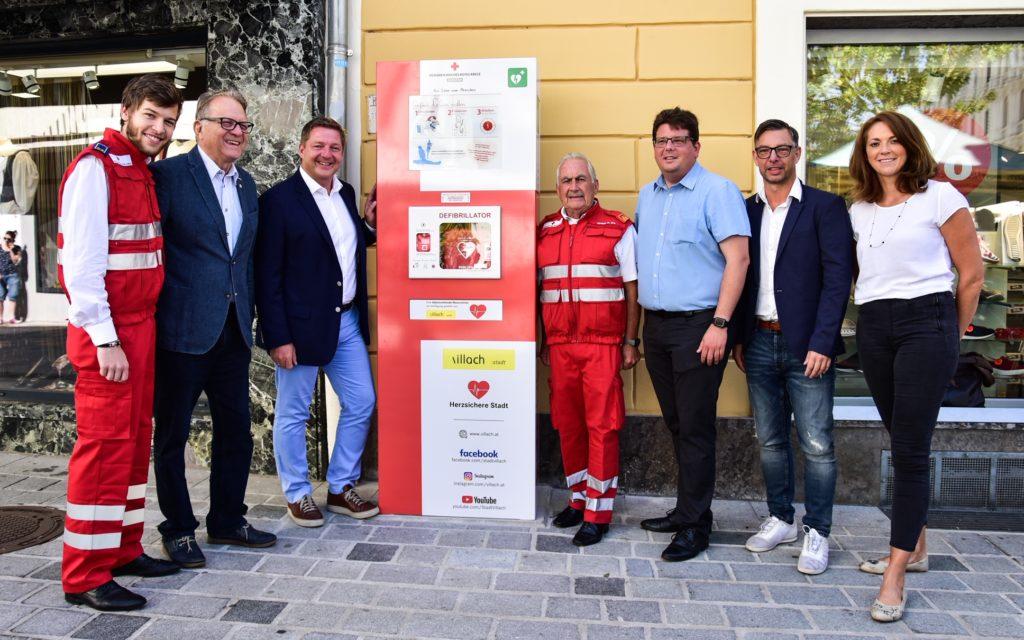 Defibrillator-Säule für mehr Sicherheit in Villach