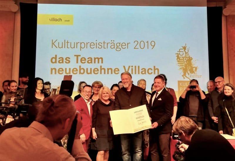 """""""Neuebuehne Villach"""" mit Kulturpreis ausgezeichnet"""