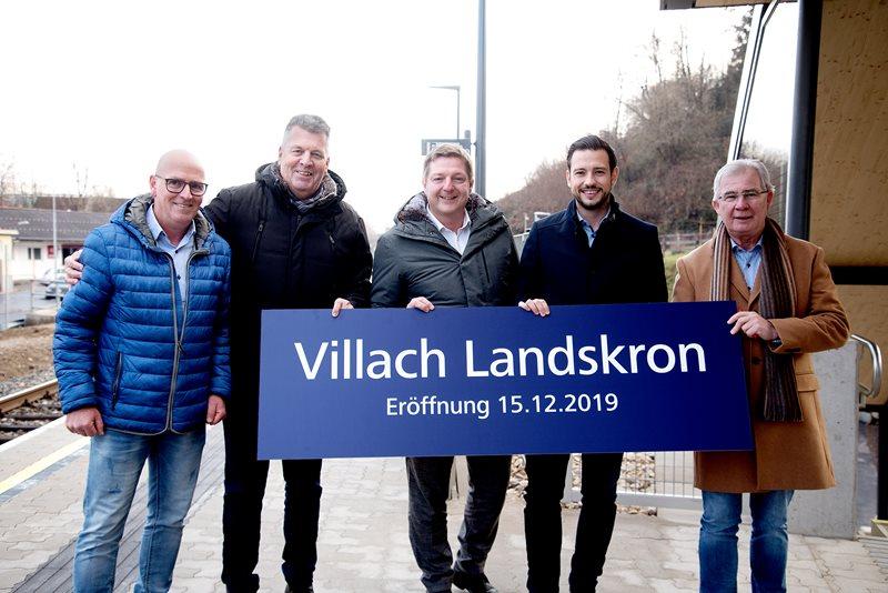 Neue Stadtbahnhaltestelle in Landskron eröffnet