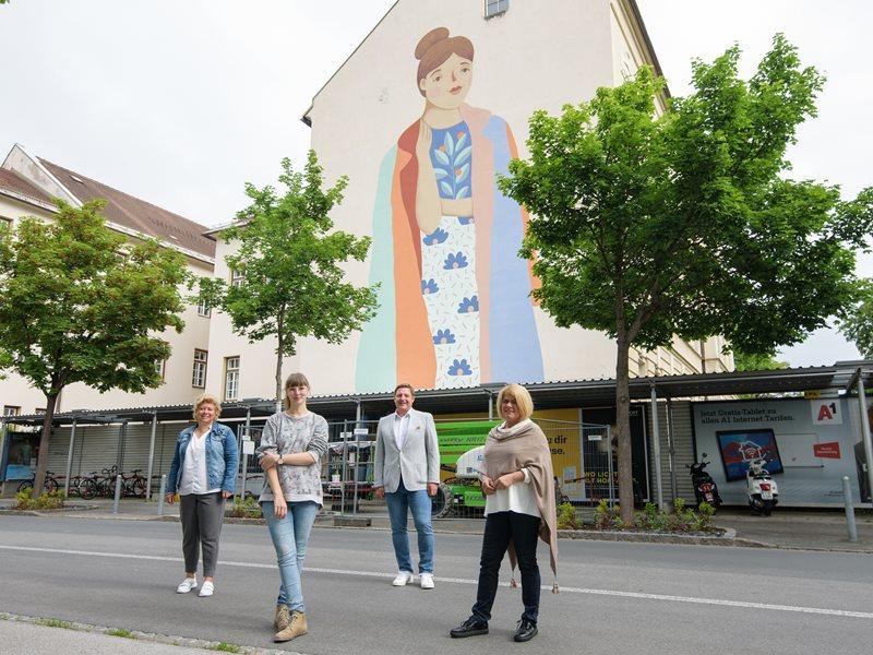 Ein buntes Zeichen für urbane Kunst und Diversität