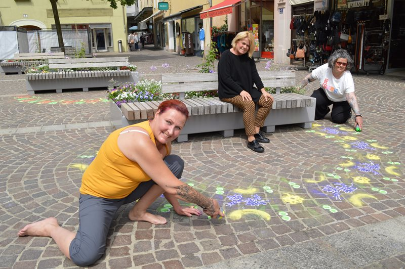 Farbenfrohe Straßenkunst