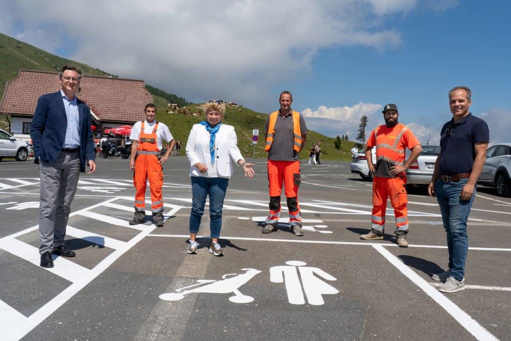 Neue Familienparkplätze am Dobratsch