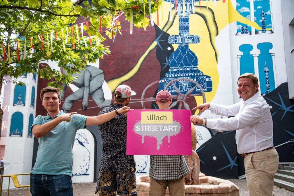 Neues, cooles Street-Art-Kunstwerk in der Innenstadt