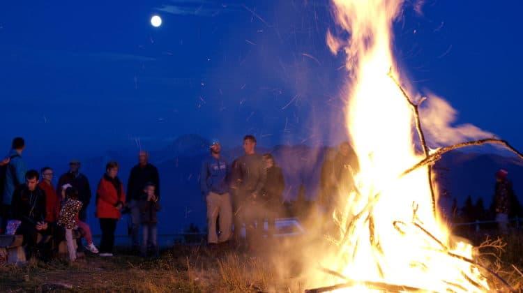 Am Samstag brennt wieder das Alpen-Feuer