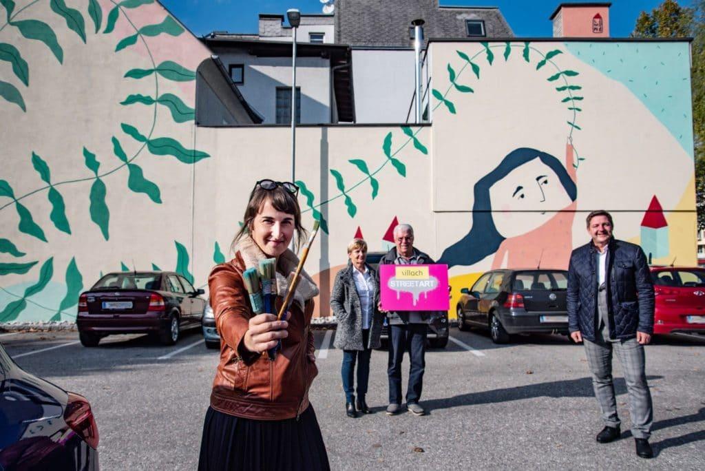 Kult-Tour: Erste Street-Art-Fahrradvernissage in Villach