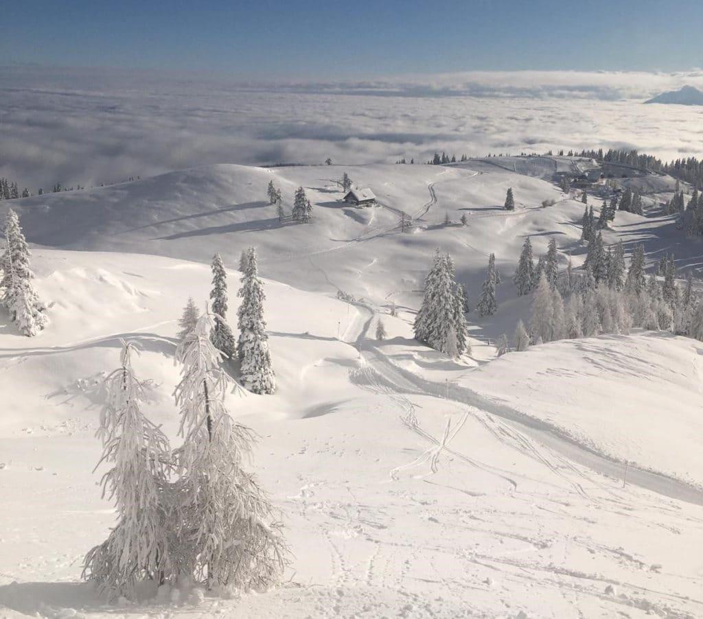 Weiße Pracht am Dobratsch: Alpenstraße ist frei